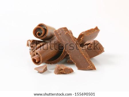 broken pieces of chocolate - stock photo