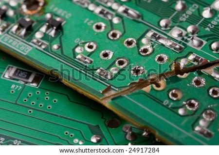 Broken Printed Circuit Board