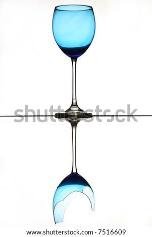 Broken reflection - stock photo