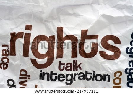 Broken rights to talk - stock photo