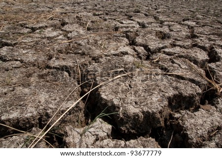 Broken soil - stock photo