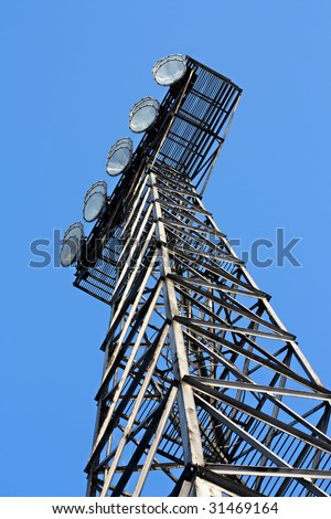 Broken stadium lights - stock photo