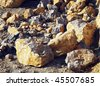Broken stone - stock photo