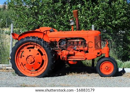 Broken Tractor - stock photo