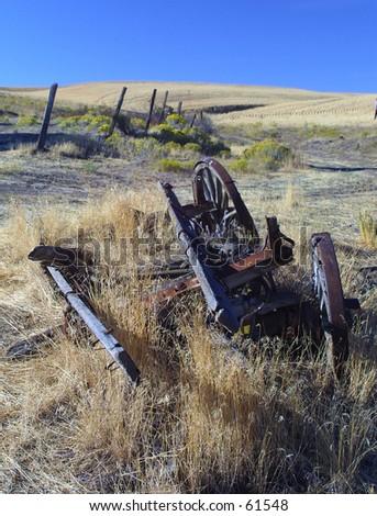 Broken Wagon - stock photo