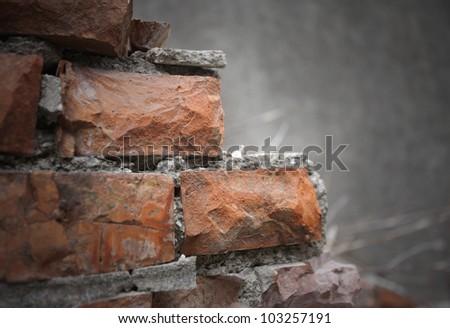 broken walls - stock photo