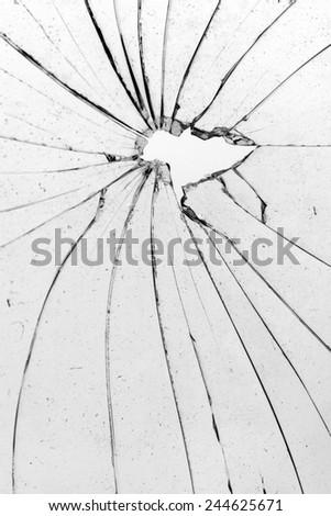 broken white glass - stock photo