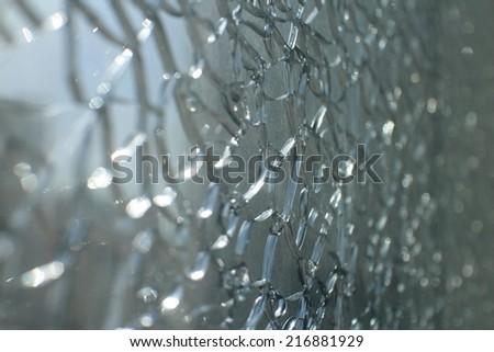 broken window background - stock photo