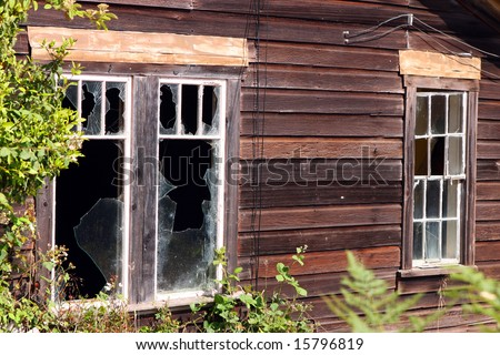 broken windows - stock photo