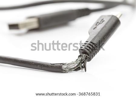 Broken Wires On White Background Stock Photo 368765831 - Shutterstock