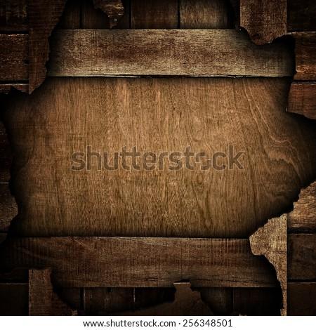 broken wood board - stock photo