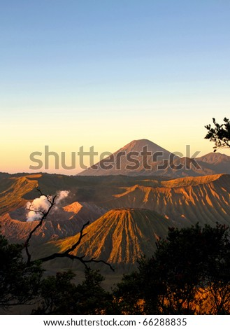 Bromo in the Morning after sunrise - stock photo