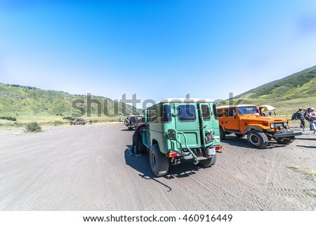 BROMO, INDONESIA - JULY 23, 2016: Local jeep used for visiting volcanoes, Java, Indonesia