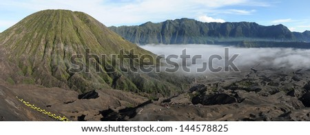 Bromo National Park on the island of Java, Indonesia