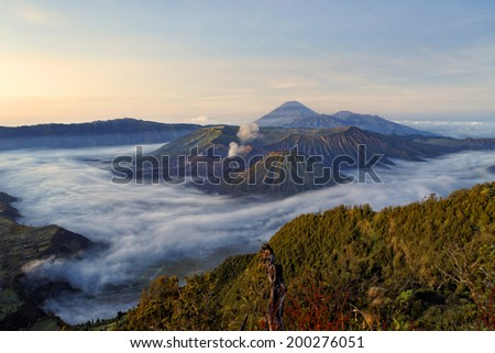 Bromo volcano, Java,Indonesia                               - stock photo