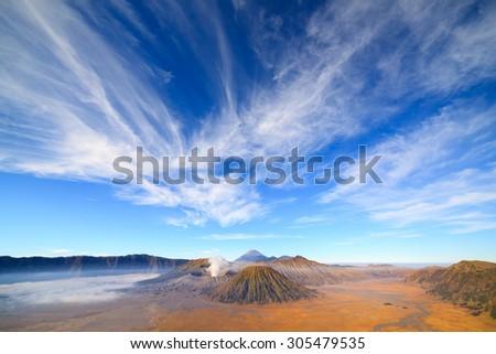 Bromo volcano ,Tengger Semeru national park, East Java, Indonesia - stock photo