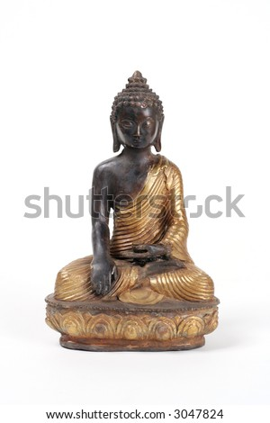 Bronze and black Buddha