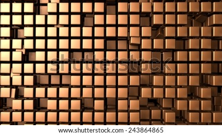bronze cubes background