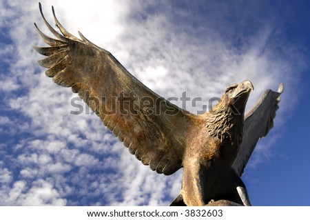 Bronze Eagle - stock photo