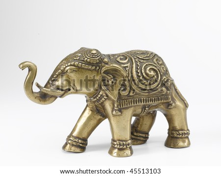 bronze elephant statue - stock photo