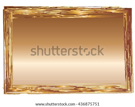 Bronze graduated effect applied to rectangular shape with grunge frame edges