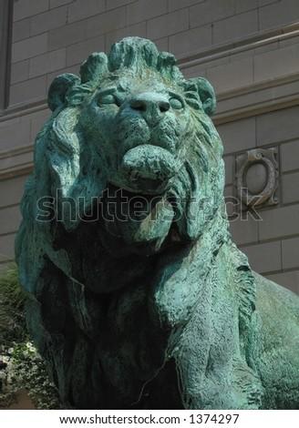 Bronze Lion - stock photo