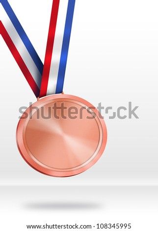 Bronze Medal Illustration - stock photo