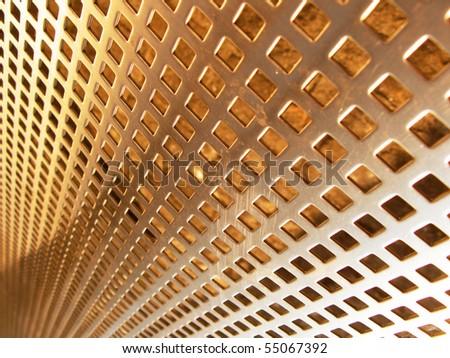 Bronze mesh - stock photo
