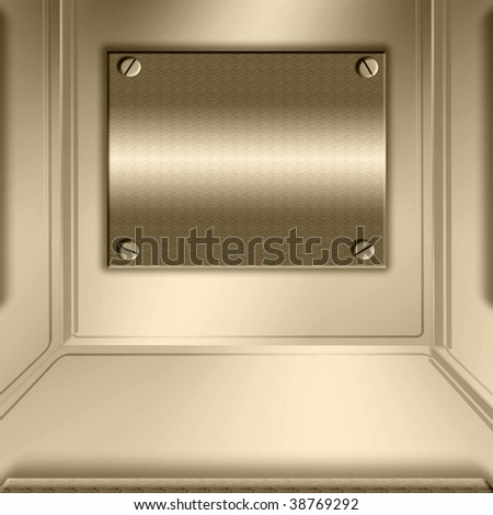 Bronze Metal Plate Abstract - stock photo