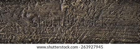 Bronze scratch texture - stock photo