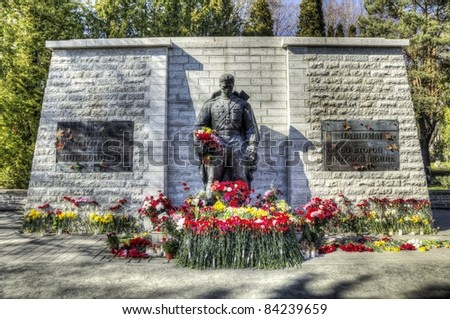 Bronze Soldier of Tallinn - stock photo