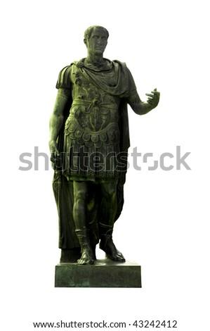 Bronze statue of dictator Julius Caesar on Via dei Fori Imperiali, Rome, Italy - stock photo