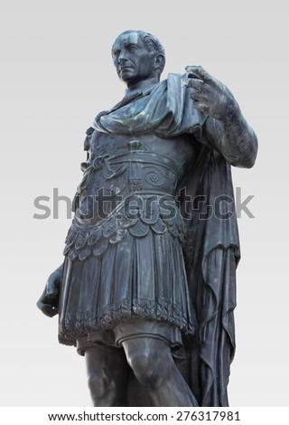 Bronze Statue of Julius Caesar - stock photo