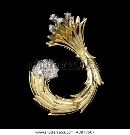 brooch - stock photo