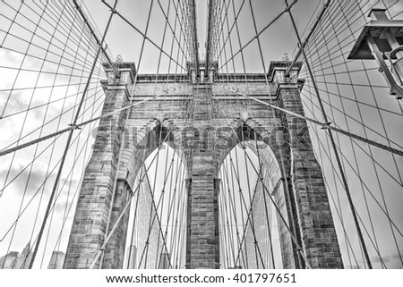 Brooklyn bridge arch.