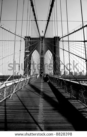 Brooklyn Bridge Arches and Cables