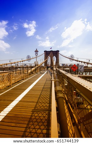 Brooklyn Bridge, Manhattan, NYC.