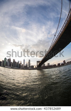 Brooklyn Bridge New York City - stock photo