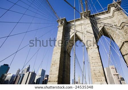 Brooklyn Bridge - NYC - stock photo