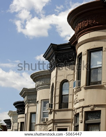 Brooklyn Brownstones - stock photo