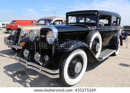 BROOKLYN, NEW YORK - JUNE 8, 2014: Historical 1930 Buick on display at the Antique Automobile Association of Brooklyn annual Spring Car Show in Brooklyn, New York  - stock photo