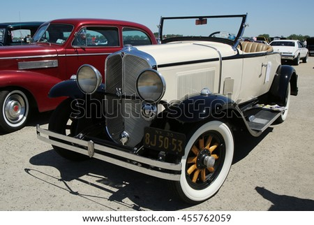 BROOKLYN, NEW YORK - JUNE 12, 2016: Historical 1930 Oakland on display at the Antique Automobile Association of Brooklyn annual Spring Car Show  - stock photo