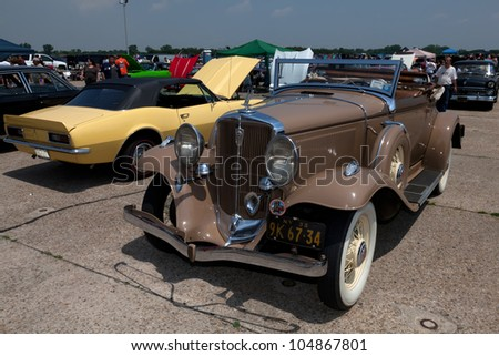 BROOKLYN, NEW YORK - JUNE 10: The 1932 Chrysler Series CI at the Antique Automobile Association of Brooklyn Annual Show on June 10, 2012 at the Floyd Bennett Field in Brooklyn, New York, USA.