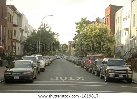 Brooklyn street - stock photo