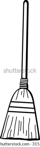 broom - stock photo