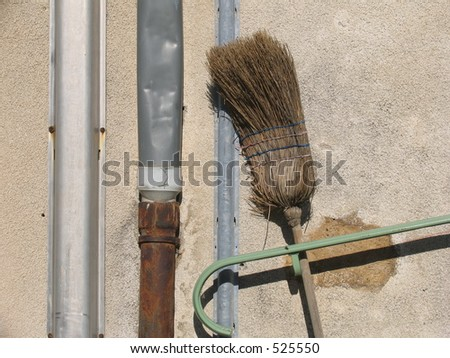 Broom and pipes