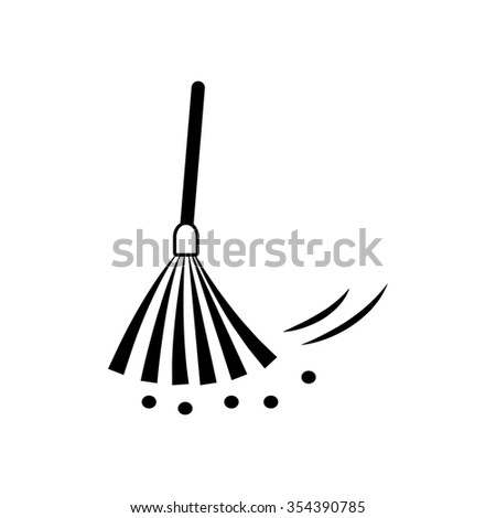 Broom  icon - stock photo