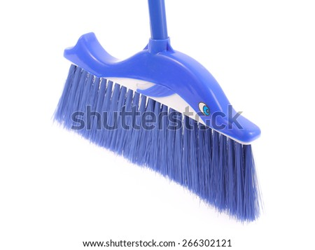 broom Isolated on a white background - stock photo