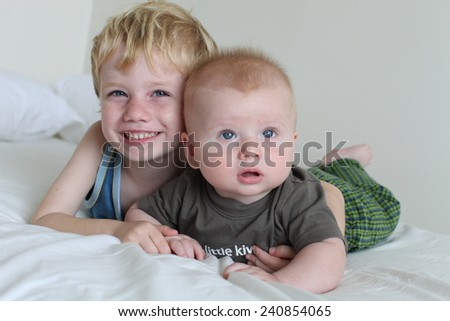 Brothers. - stock photo