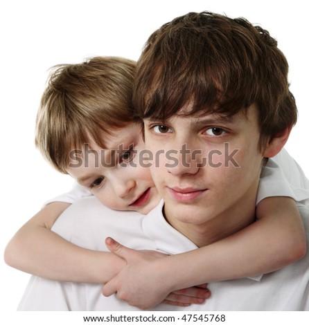 Brothers - stock photo